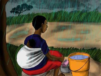 Während der Regenzeit laufen die Geschäfte schlecht. Grace hat Zweifel, ob sie genügend für ihre Familie verdienen kann.