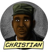 Gezeichnetes Portrait von Christian Mafigiri