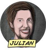 Gezeichnetes Portrait von Julian Stahnke